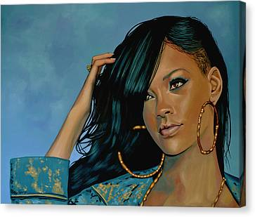 Rihanna Painting Canvas Print by Paul Meijering