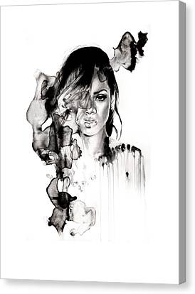Rihanna Stay Canvas Print by Molly Picklesimer