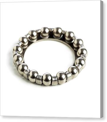 Ring Of Ball Bearings Canvas Print by Science Photo Library