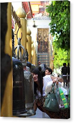 Ringing Of The Bells - Wat Phrathat Doi Suthep - Chiang Mai Thailand - 01132 Canvas Print by DC Photographer