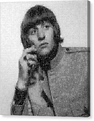 Ringo Starr Mosaic Image 1 Canvas Print by Steve Kearns