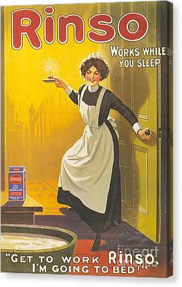 Rinso 1910s Uk Washing Powder Maids Canvas Print by The Advertising Archives