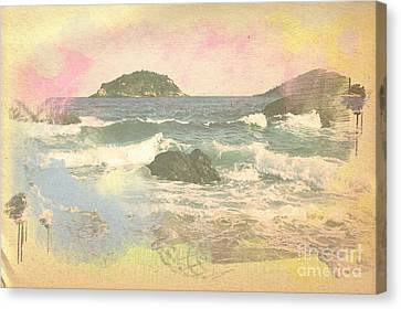 Rio In Aquarelle Canvas Print by Will Cardoso