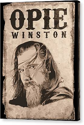 R.i.p. Opie Canvas Print by Kyle Willis