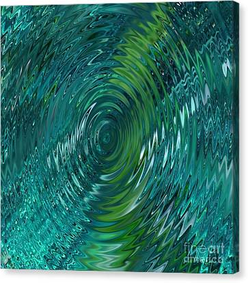 Ripple Sea Glass  Canvas Print by Christine Fournier