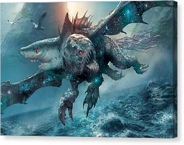 Riptide Chimera Canvas Print by Ryan Barger