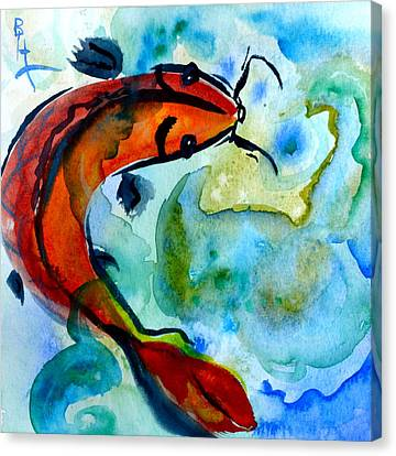 Rising To The Surface Canvas Print by Beverley Harper Tinsley
