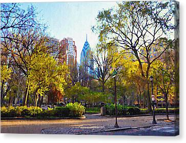 Rittenhouse Square In The Spring Canvas Print by Bill Cannon