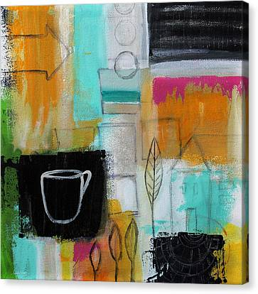 Rituals- Contemporary Abstract Painting Canvas Print by Linda Woods