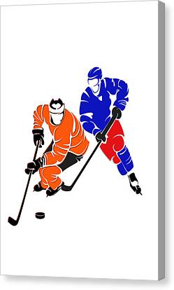Rivalries Flyers And Rangers Canvas Print by Joe Hamilton