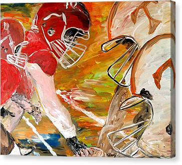 Rivals Face To Face  Canvas Print by Mark Moore
