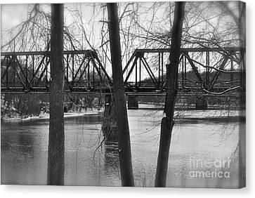 River Bridge Canvas Print by Jonathan Brown