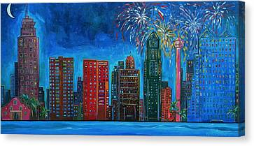 River City Skyline Canvas Print by Patti Schermerhorn