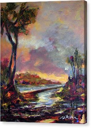 River Dusk Canvas Print by Julianne Felton
