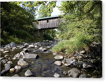 River Gorge Covered Bridge Canvas Print by Jim  Wallace