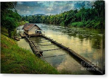 River Kwai Kanchanaburi  Canvas Print by Adrian Evans