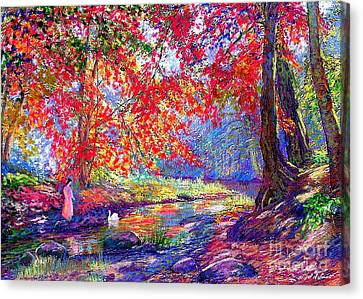 River Of Life, Colors Of Fall Canvas Print by Jane Small