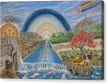 River Of Life Canvas Print by Neal David Reilly