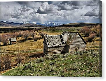 River Ranch Homestead Canvas Print by Dave Bower