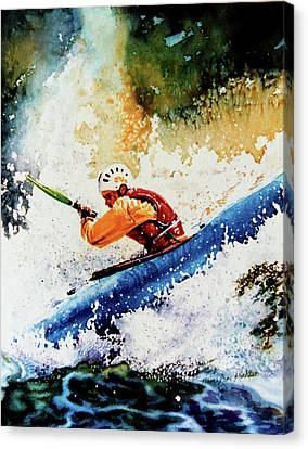River Rush Canvas Print by Hanne Lore Koehler