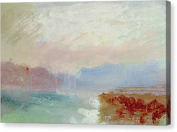 River Scene Canvas Print by Joseph Mallord William Turner