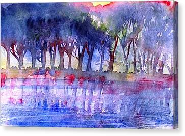 River Trees  Canvas Print by Trudi Doyle