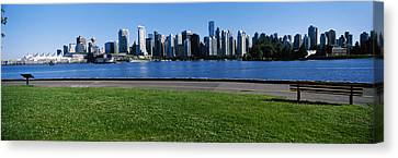 River Walk With Skylines Canvas Print by Panoramic Images