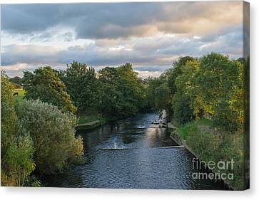 River Wyre At Sunset Canvas Print by John Collier