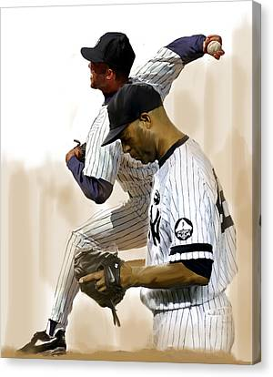 Rivera   Mariano Rivera  Canvas Print by Iconic Images Art Gallery David Pucciarelli