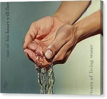Rivers Of Living Water IIi  Canvas Print by Hannah  Harris