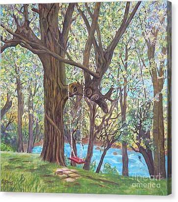 Riverside Canvas Print by Caroline Street