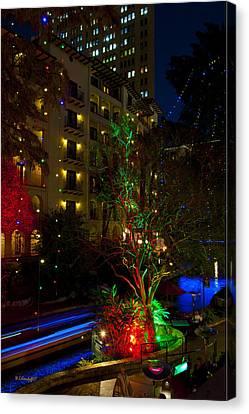 Riverwalk Lights Canvas Print by Wayne Kondoff