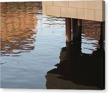 Riverwalk Low View Refections Canvas Print by Anita Burgermeister
