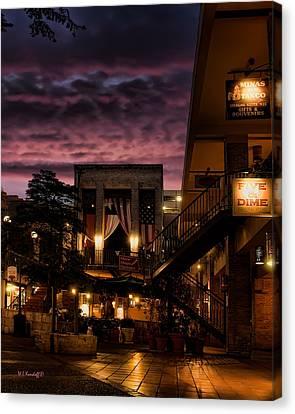 Riverwalk Sky Canvas Print by Wayne Kondoff