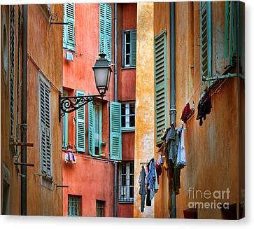 Riviera Alley Canvas Print by Inge Johnsson