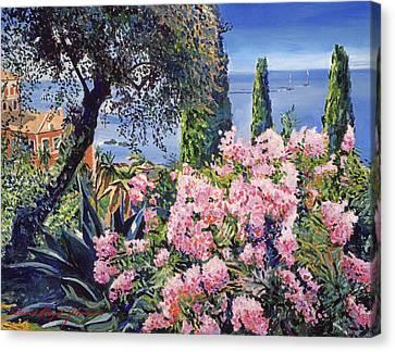Riviera Coast Canvas Print by David Lloyd Glover