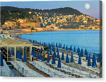 Riviera Full Moon Canvas Print by Inge Johnsson