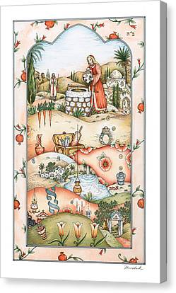 Rivkah's Well Canvas Print by Michoel Muchnik