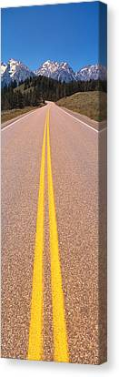 Road Grand Teton National Park Wy Canvas Print by Panoramic Images