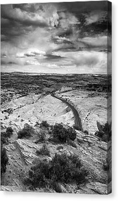 Road In The Desert Canvas Print by Andrew Soundarajan