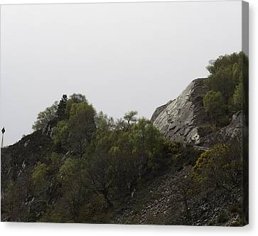 Road On A Crumbly Hill In The Scottish Highlands Canvas Print by Ashish Agarwal