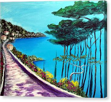 Road On The Riviera Canvas Print by Larry Cirigliano