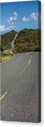 Road Passing Through A Landscape, U.s Canvas Print by Panoramic Images