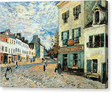 Road To Marly Canvas Print by Alfred Sisley