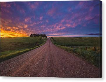Road To Nowhere El Canvas Print by Aaron J Groen