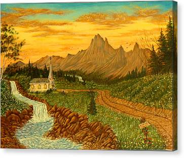 Road To Redemption Canvas Print by David Bentley