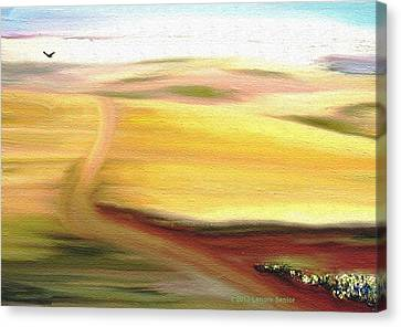Road To Somewhere Canvas Print by Lenore Senior