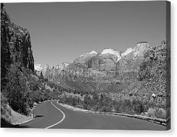 Road To Zion Canvas Print by Kimberly Oegerle