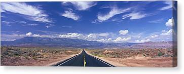 Road Zion National Park, Utah, Usa Canvas Print by Panoramic Images