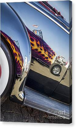 Roadster Reflection- Metal And Speed Canvas Print by Holly Martin
